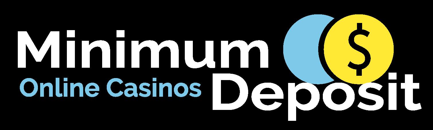 Minimum Deposit Online Casinos white logo